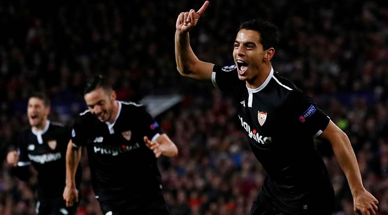Sevilla beat Manchester United 2-1 in Champions League.