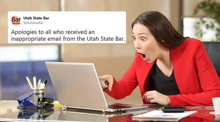utah state bar, utah bar association, bar association topless woman mail, utah bar topless woman email, bulk mail goof up, derogatory mail, viral news, funny news, odd news, indian express,