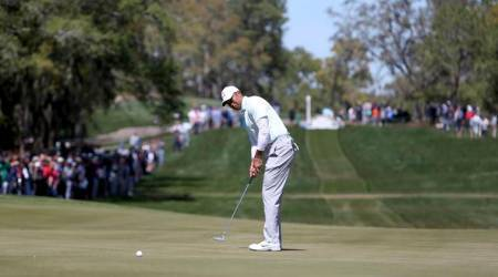 On 'good day' Tiger Woods goes two strokes off lead at Valspar