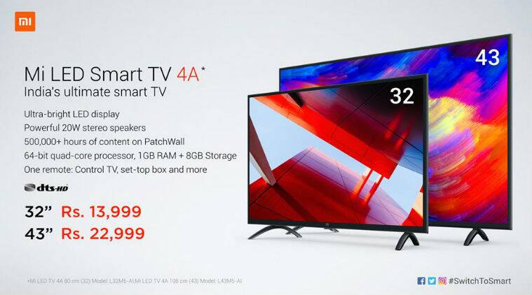 Xiaomi Mi Tv 4a 32 Inch And 43 Inch Models Launched In India Price