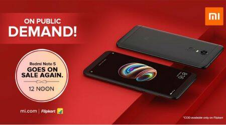 Xiaomi Redmi Note 5 surprise flash sale at 12 PM today on Mi.com, Flipkart