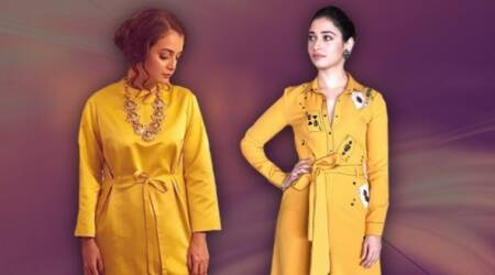 Yellow is the new black: Tamannaah Bhatia and Dia Mirza show two great ways to sport the bright colour