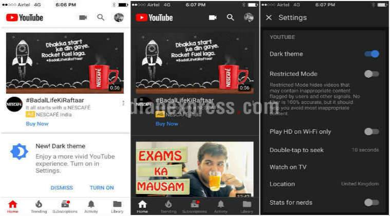 YouTube dark mode iOS, iOS YouTube dark mode, dark mode YouTube iOS, dark theme iOS, YouTube app dark theme, iOS
