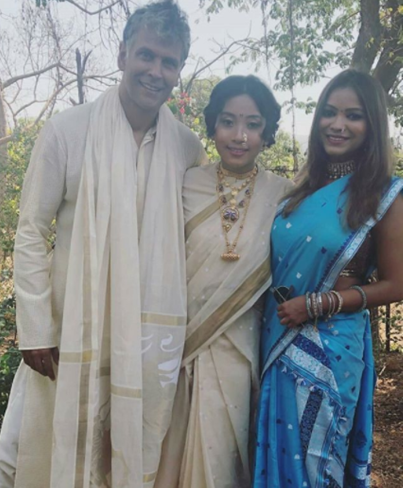 Milind Soman and Ankita Konwar's marriage