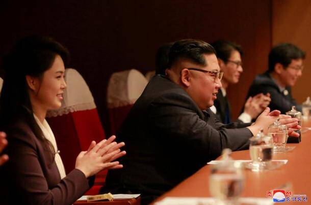 kim jong un photos, pyongyang pop concert pics, south korea, k pop band pics, kim jong un wife pics, north korea pictures, kim jong un pop concert pictures, indian express