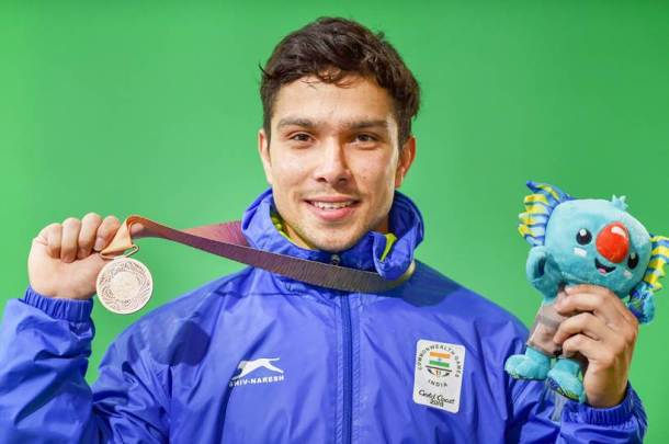 CWG 2018 Medal India Deepak Lather