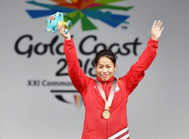 CWG 2018 Medal India Sanjita Chanu