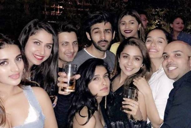 kartik aaryan at shaan Muttathil birthday