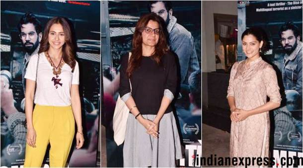 rakul preet, saiyami kher attend omerta screening