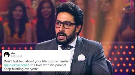 Abhishek Bachchan gets trolled for living with parents; gives it back in equal measure
