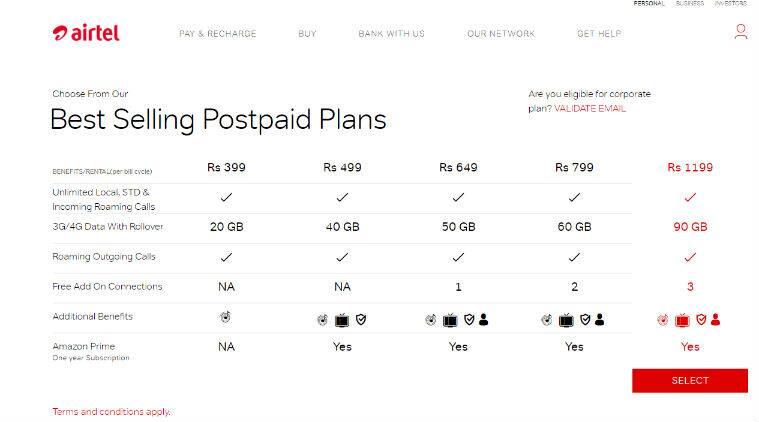 Airtel, Airtel recharge, Airtel 649 offer, Airtel postpaid offer, Airtel unlimited calling, Airtel Infinity plans, Airtel new postpaid offer, Reliance Jio, Jio recharge, Vodafone Red