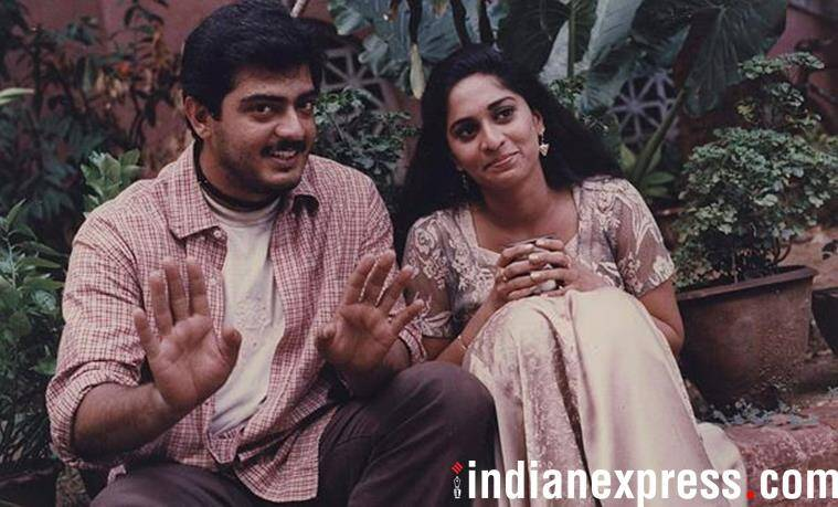 Ajith and Shalini in a film