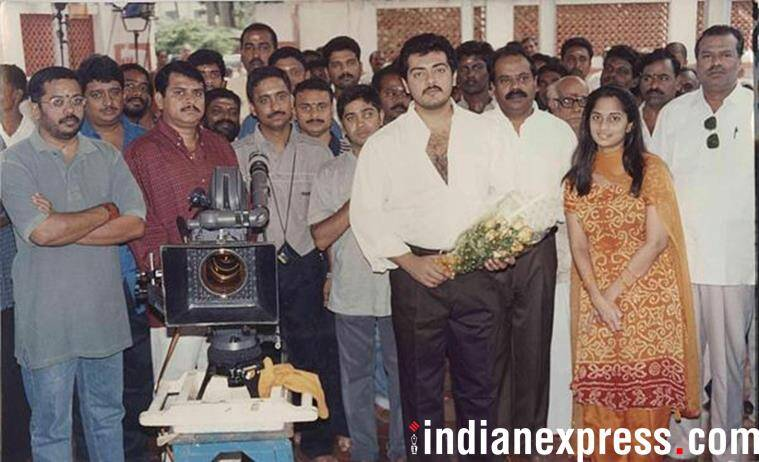 Ajith and Shalini at an event