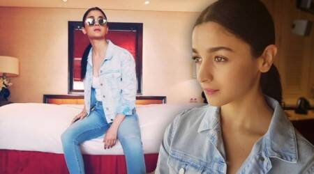 Raazi promotions: Alia Bhatt keeps it cool and street-style chic in a denim-on-denim outfit