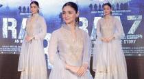 Raazi promotions: Alia Bhatt's lavender and gold Manish Malhotra anarkali is like a breath of fresh air in the summer heat