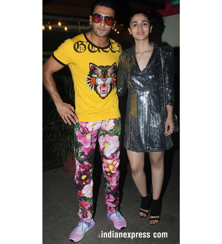 Alia Bhatt, Alia Bhatt latest photos, Alia Bhatt fashion, Alia Bhatt Gully boy, Alia Bhatt LBD, Alia Bhatt Zara, Ranveer Singh, Ranveer Singh latest photos, Ranveer Singh fashion, Ranveer Singh GullyBoy wrap up party, indian express, indian express news