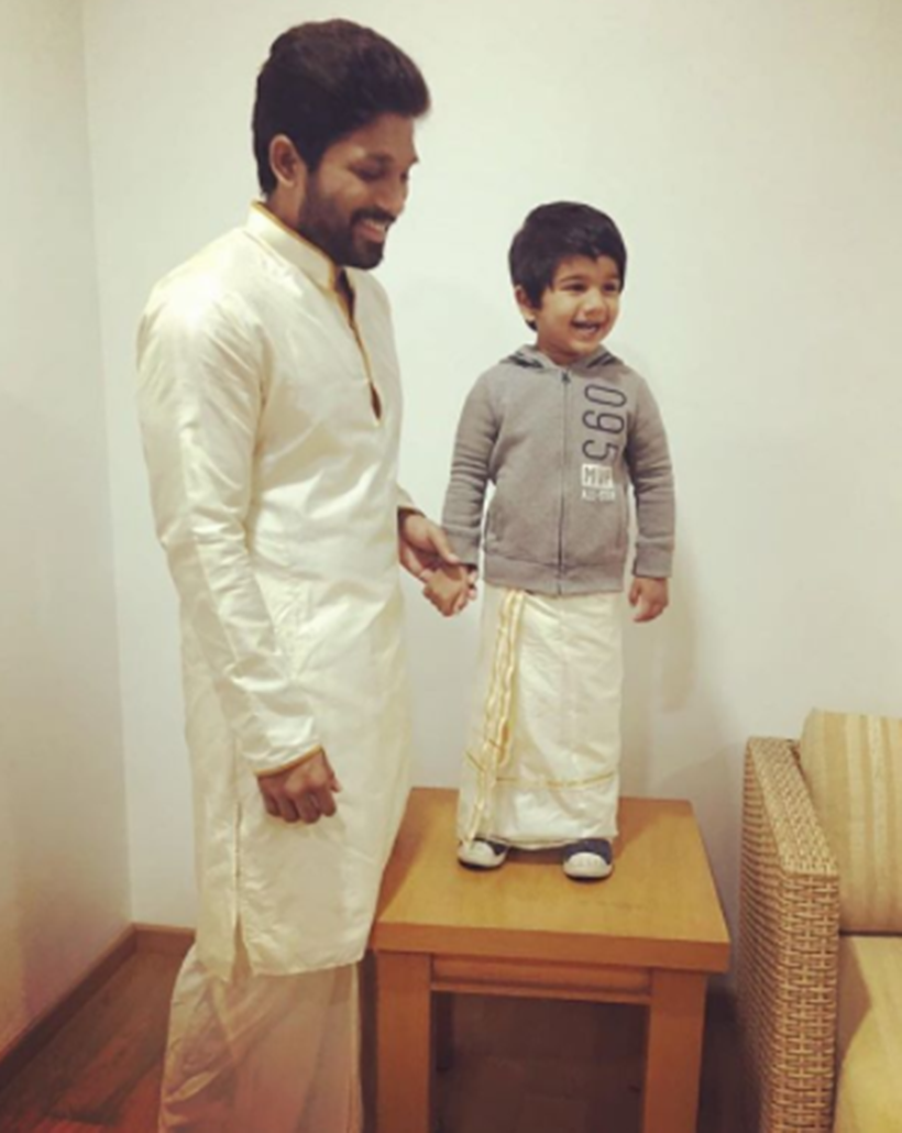 Allu Arjun, wife Sneha Reddy celebrate son Ayaan's Birthday