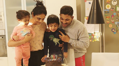 allu ayaan birthday photo