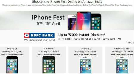 Apple iPhone Fest, Apple iPhone X, iPhone 8, iPhone 8 Plus, iPhone 7, iPhone offers, iPhone 6S Plus, iPhone 6S, iPhone 6, iPhone SE, iPhone sale Amazon