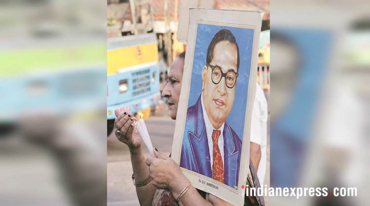 Ambedkar statue vandalised, bhim rao ambedkar, ambedkar statue vandalised in ambala, haryana news, Naraingarh, dalit groups clash