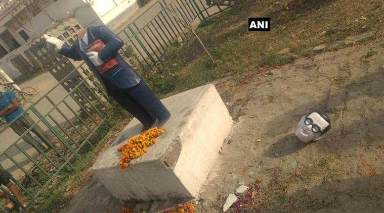 Two more Ambedkar statues damaged in UP