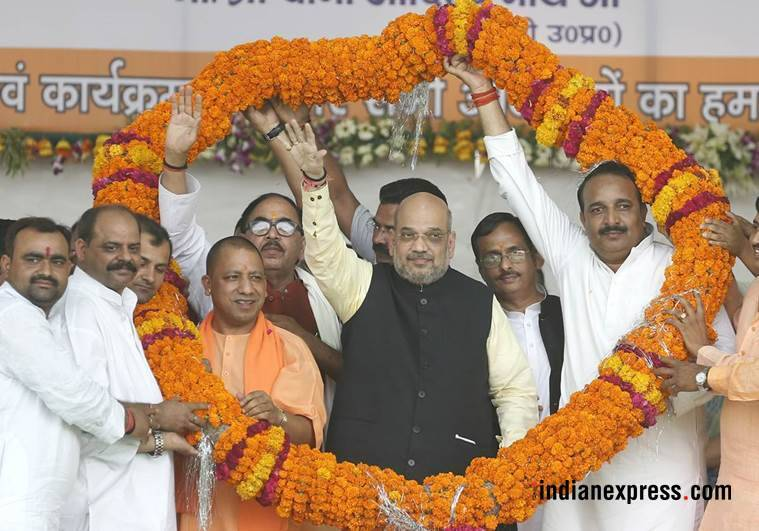 amit shah, rae bareli, congress, bjp, hindu culture, dinesh pratap singh, cong mlc joins bjp, indian express