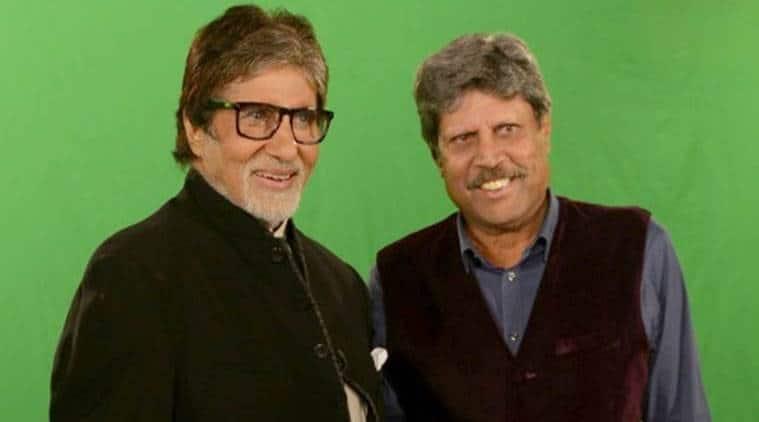 Kapil Dev with Amitabh Bachchan
