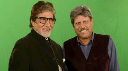 Kapil Dev with Amitabh Bachchan