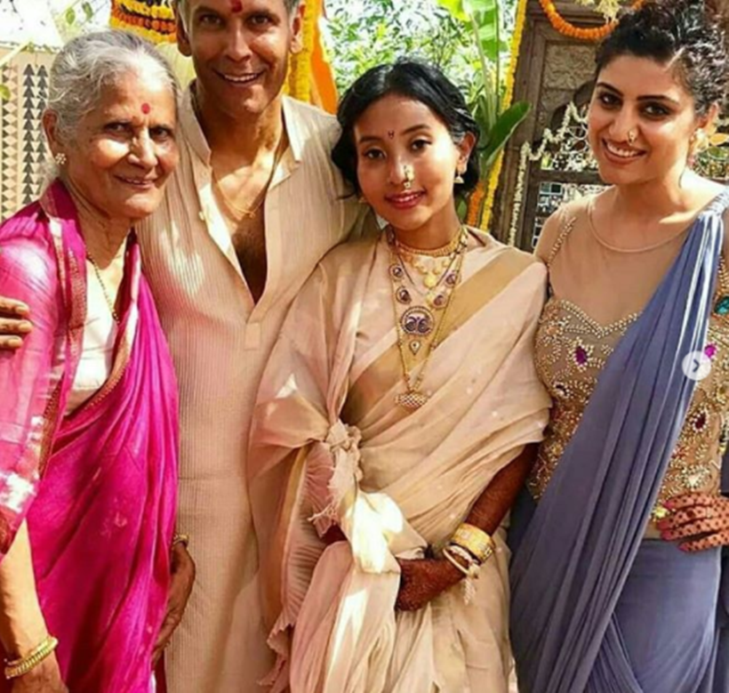 Milind Soman and Ankita Konwar photos