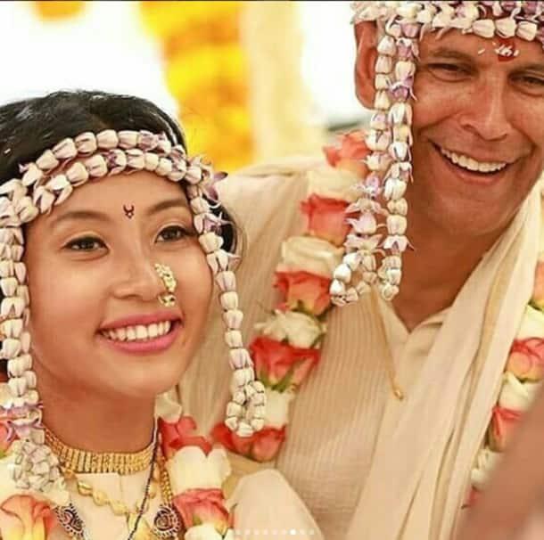 milind soman wedding