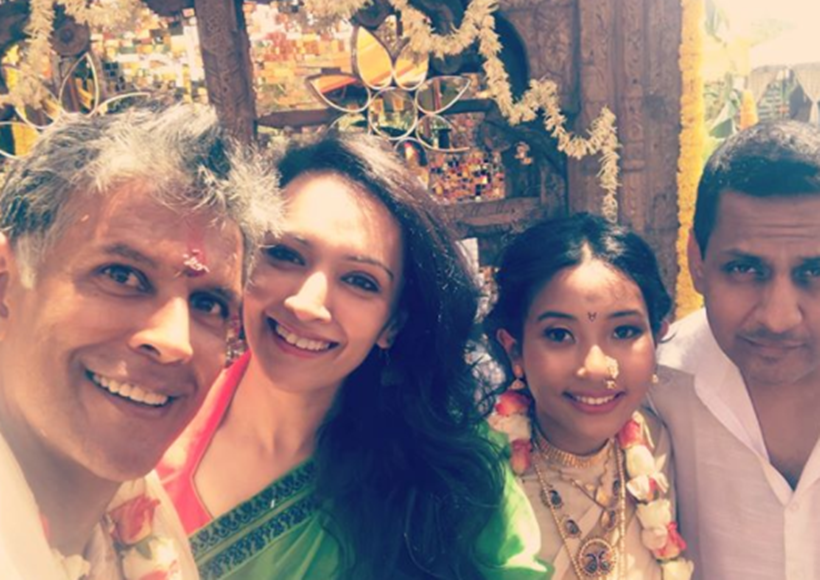 milind soman marriage