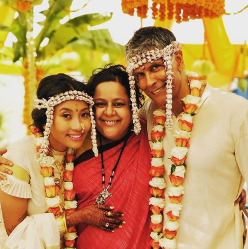 wedding of Milind Soman