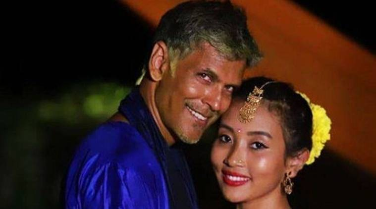 milind soman and ankita konwar recently tied the knot