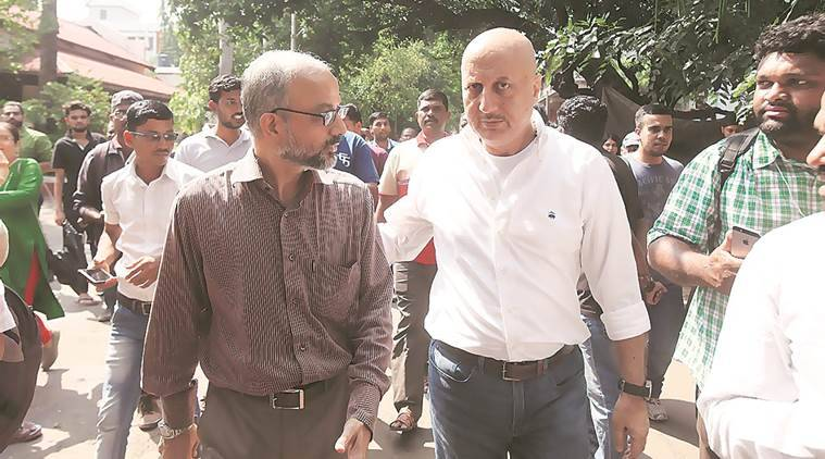 Anupam Kher was appointed as the head of the FTII Society by the I&B Ministry on October 11 last year. (Express photo)