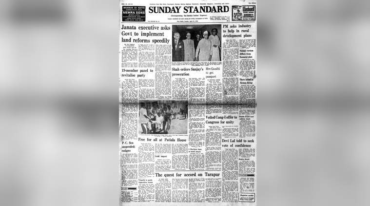 April 23 1978, Forty Years Ago, old rare newspapers, indira, sanjay gandhi, shah commission, indian express