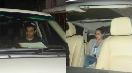 Arbaaz Khan and Sonakshi Sinha at Salman khan house
