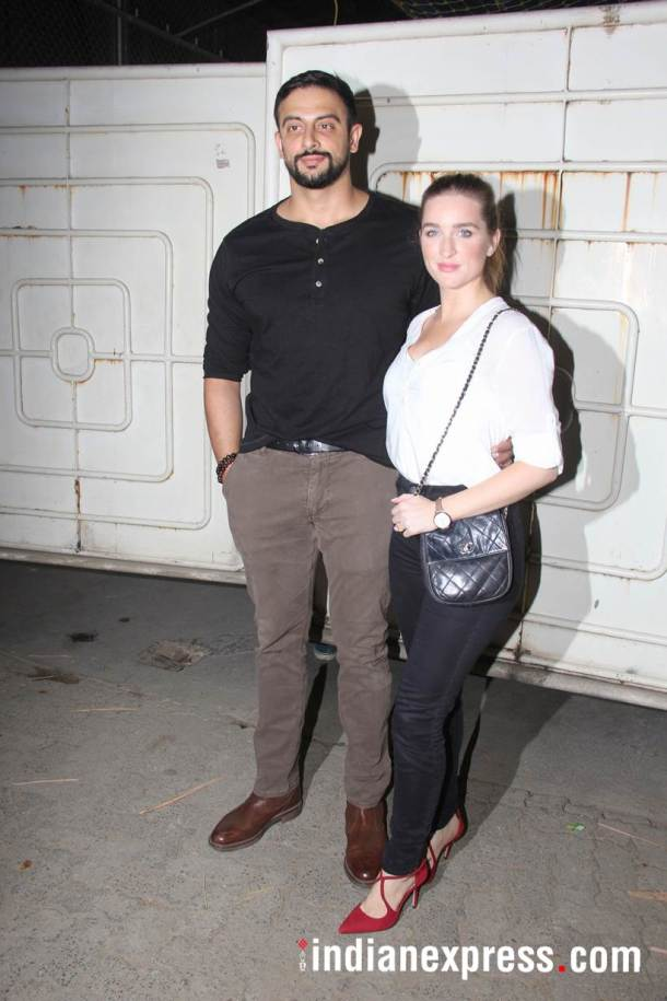 Arunoday Singh and wife Lee Elton