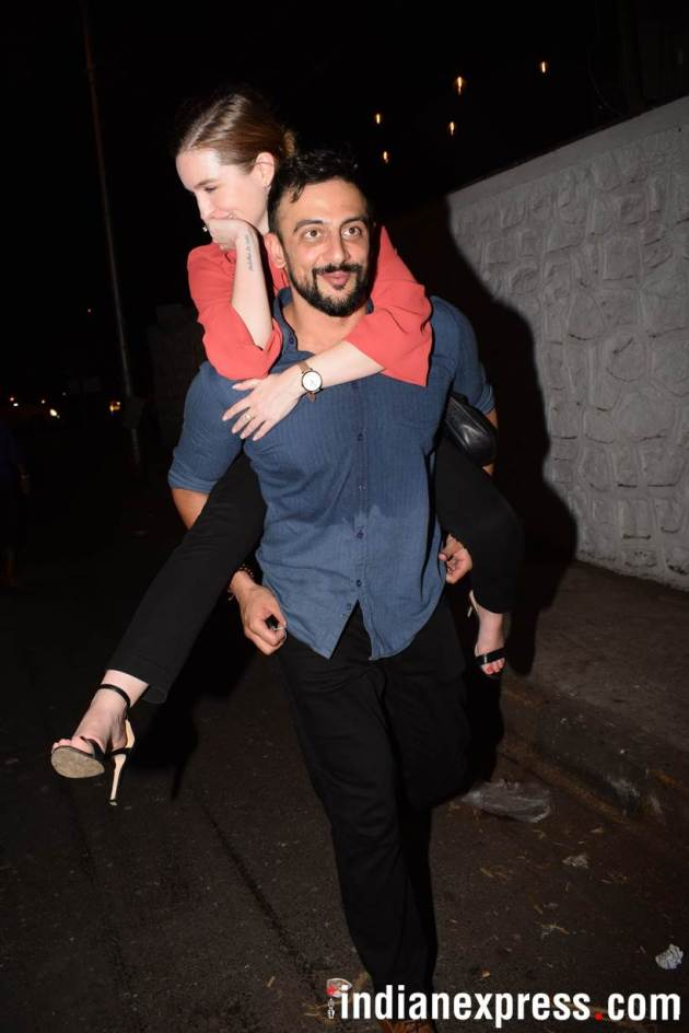 Arunoday Singh with wife Lee Elton