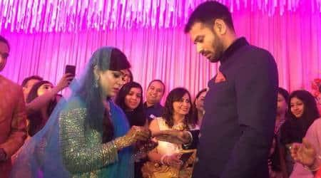 Tej Pratap Yadav, Aishwarya Rai get engaged inPatna