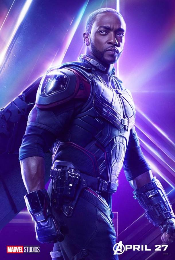 Anthony Mackie as Sam Wilson aka Falcon in avengers infinity war
