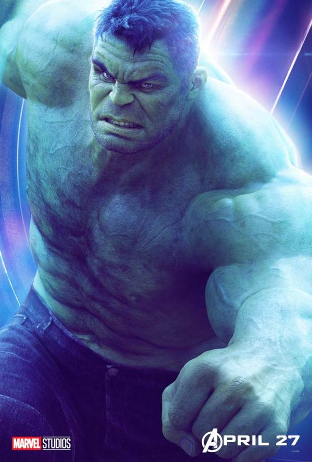 mark ruffalo as hulk in avengers infinity war