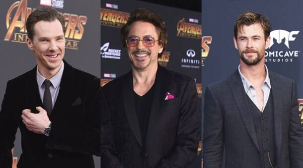 avengers infinity war robert downey jr chris hemsworth benedict cumberbatch