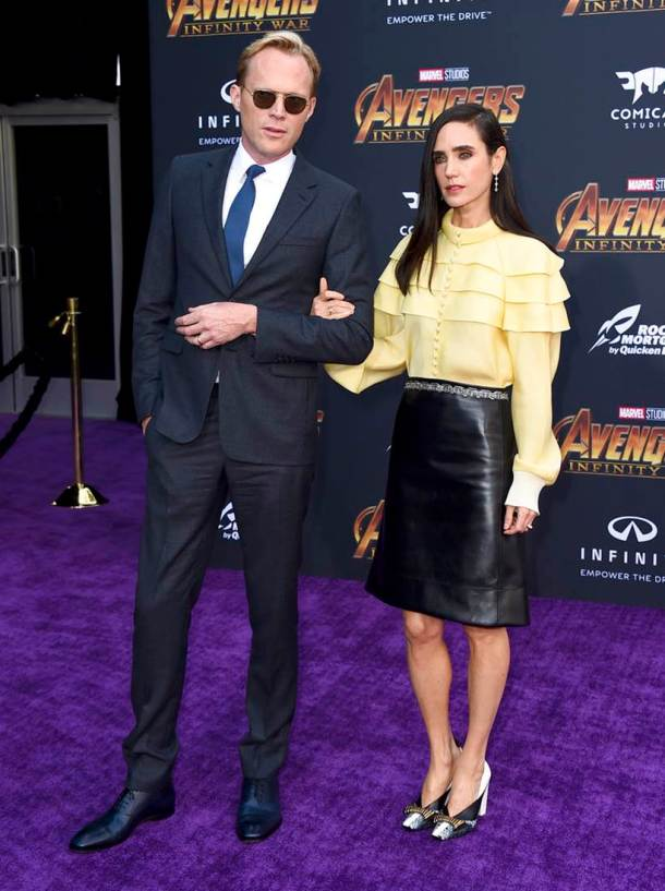 Paul Bettany, Jennifer Connelly avengers infinity war