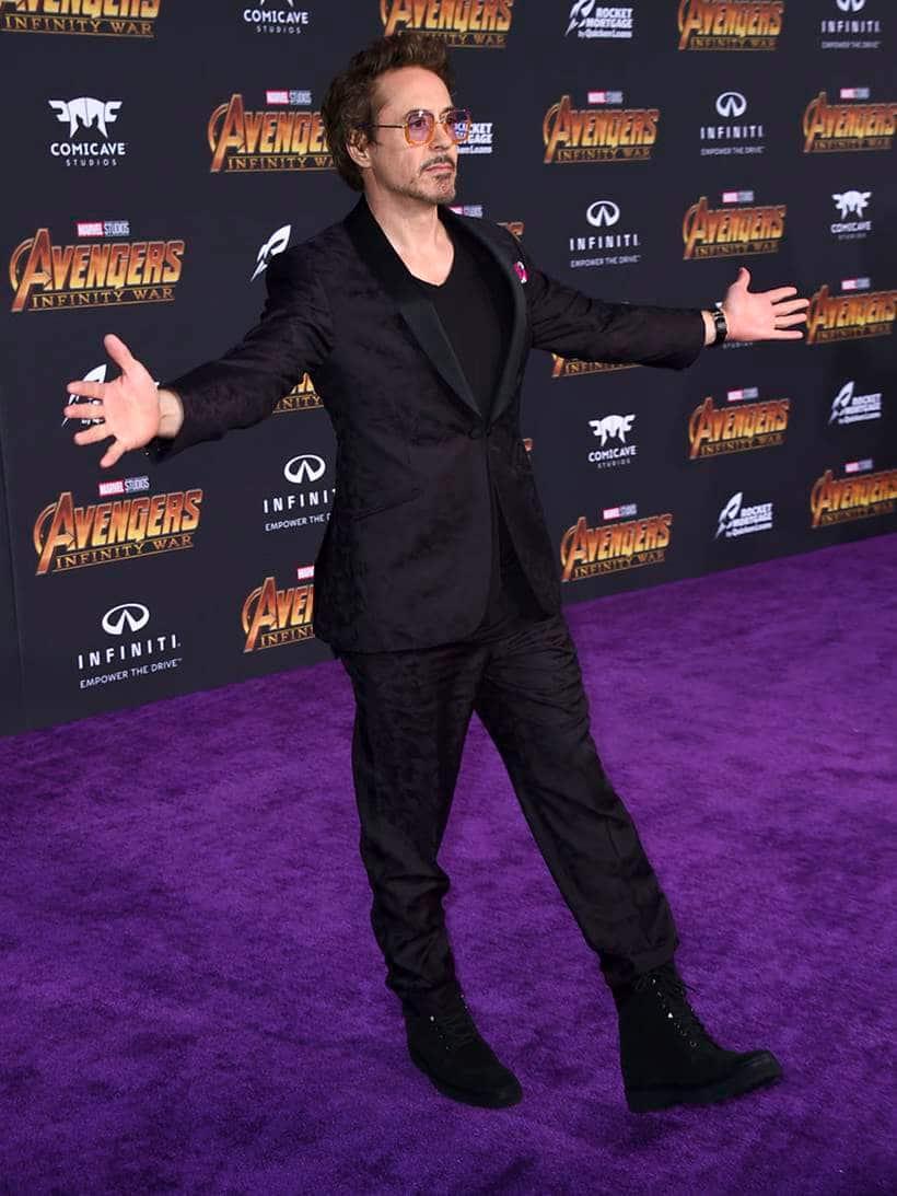Robert Downey Jr avengers infinity war iron man