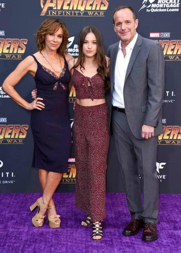 Jennifer Grey, Clark Gregg, Stella Gregg avengers infinity war