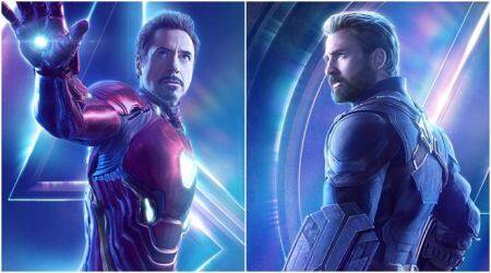 avengers infinity war posters featuring captain america and iron man