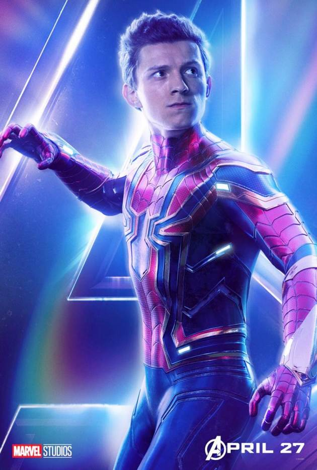 tom holland as spiderman in avengers infinity war
