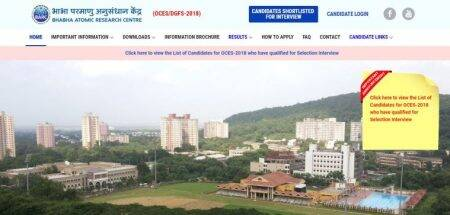 BARC result, barconlineexam.in, BARC OCES Result, BARC OCES Result 2018 download