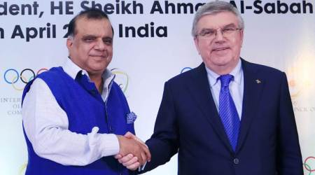 Narinder Batra, Thomas Bach, IOA, Indian Olympic Association, sports news, Indian Express