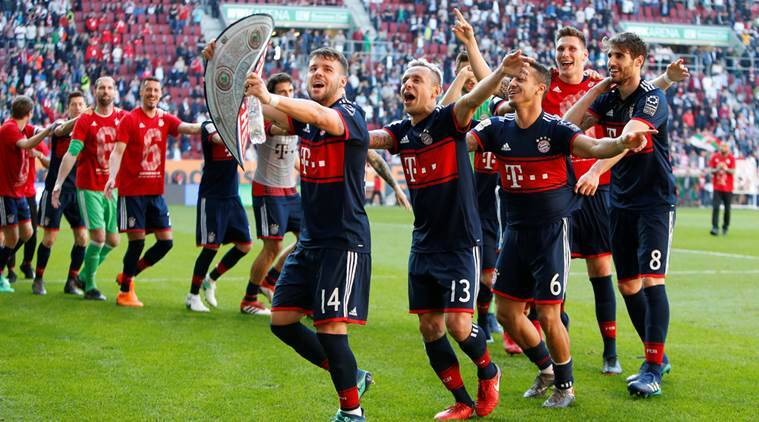 Bayern rout Augsburg to bag sixth successive Bundesliga title